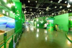 Chengdu China-A hoek van het Wetenschap en Technologiemuseum Royalty-vrije Stock Foto's