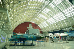 Chengdu China-A model plane in the exhibition hall Royalty Free Stock Photography
