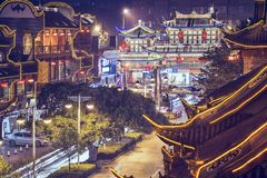 Chengdu, China at Qintai Street. Stock Images