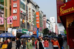 Chengdu, China: Rua de Chun Xi Fotos de Stock