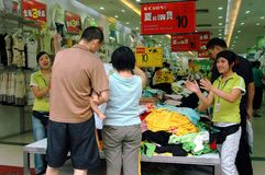 Chengdu, China: Shoppers on Chun Xi Street Stock Photography