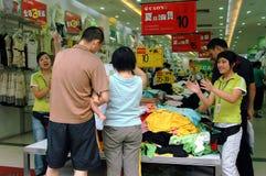Chengdu, China: Shoppers on Chun Xi Street Stock Photography