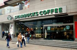 Chengdu, China: Starbucks Coffee Store Royalty Free Stock Photography