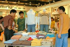 Chengdu, China: Teens Shopping for Clothes Stock Photos