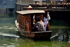 Chengdu, China: Tourists Taking Boat Ride Royalty Free Stock Photos