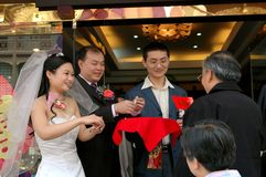 Chengdu, China: Wedding Party Welcome Royalty Free Stock Images