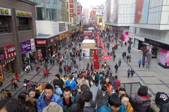 Chengdu chunxi street Royalty Free Stock Photography