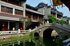 Chengdu, Cina: Tan Water Town lunga Immagine Stock