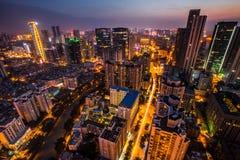 Chengdu City Lights Royalty Free Stock Photo