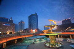 Chengdu city night Royalty Free Stock Photo