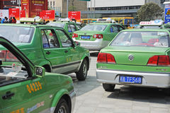 Chengdu city vw cabs Stock Photography