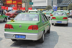 Chengdu city vw cabs Stock Image