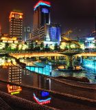 Chengdu Downtown at Night royalty free stock images