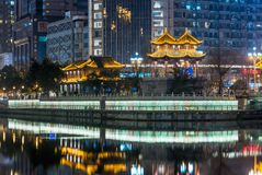 Chengdu - HeJiang pavilion at night