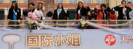 chengdu internationell miss Arkivbild