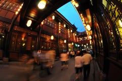 Chengdu jinli alte Straße Lizenzfreie Stockfotografie