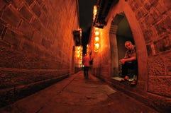 Chengdu jinli old street at night Royalty Free Stock Images