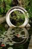 Chengdu Kina: Moongate på den kinesiska templet Arkivfoton