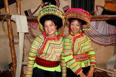 Chengdu Kina: Två Li Su Women Royaltyfri Foto