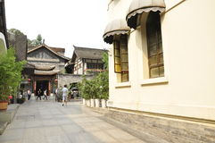 Chengdu Kuanzhai Alley Royalty Free Stock Photo