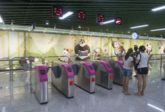 Chengdu metra linii 3 metro Fotografia Royalty Free