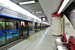 Chengdu metro royalty free stock photos