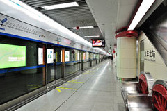 Chengdu metro royalty free stock images