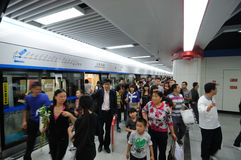 Chengdu metro line 1 Stock Image