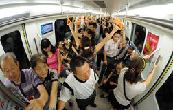 Chengdu metro line 2 Royalty Free Stock Photography