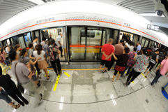Chengdu metro line 2 Stock Photo
