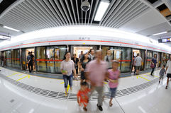 Chengdu metro line 2, Tianfu square station Stock Photos