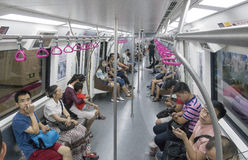 Chengdu Metro line 3 subway train Royalty Free Stock Photo