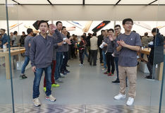 Chengdu opens second Apple store. A second Apple store opened in Taikoo Li in Chengdu, in the Sichuan Province of China Royalty Free Stock Photography