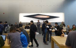 Chengdu opens second Apple store Stock Images