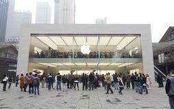 Chengdu opent tweede Apple-opslag Stock Fotografie