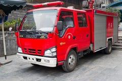 Chengdu-Porzellan: Löschfahrzeug vorbereitet Lizenzfreie Stockfotos