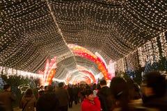 Chengdu, Porzellan: Laterneerscheinen Stockfotografie