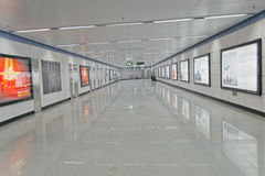 Chengdu, Porzellan: leerer Durchgang Lizenzfreie Stockfotos