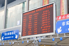 Chengdu, Porzellan: Serienabflüge Stockbild