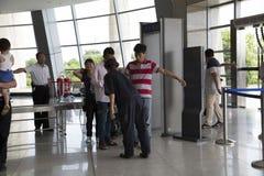 Chengdu, Porzellan: Sicherheitskontrolle Lizenzfreie Stockbilder