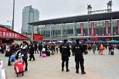 Chengdu Railway station Stock Photos
