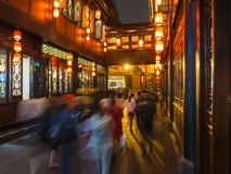 Chengdu, Sichuan, China: Jinli ancient street, night scene stock photography