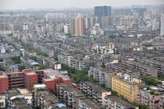 Chengdu, Sichuan, tłumu porcelana miasto zdjęcia royalty free