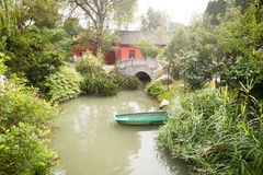 Chengdu - small boat on a pond Stock Photography