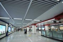 chengdu stationsgångtunnel Arkivfoto