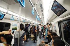 Chengdu subway  interior Stock Photos