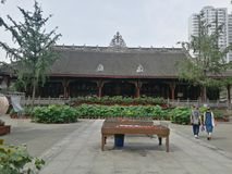 Chengdu tempel royaltyfri fotografi