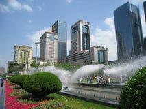 Chengdu tianfu square. Chengdu is the capital of Heavenly State (Tian Fu Zhi Guo), west of china, the tianfu square located center of chengdu stock image