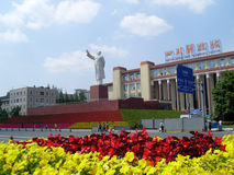 Chengdu tianfu square with Statue of Mao zedong Stock Photo