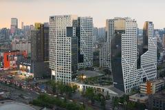 Chengdu tombolastad som bygger flyg- sikt Fotografering för Bildbyråer